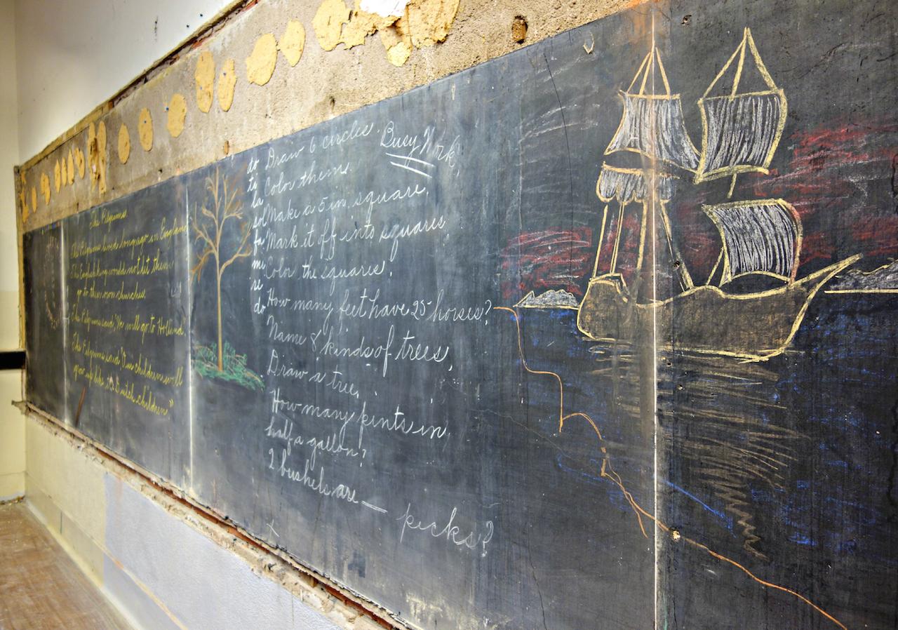 1917 chalkboard drawings at Emerson High School, Oklahoma City