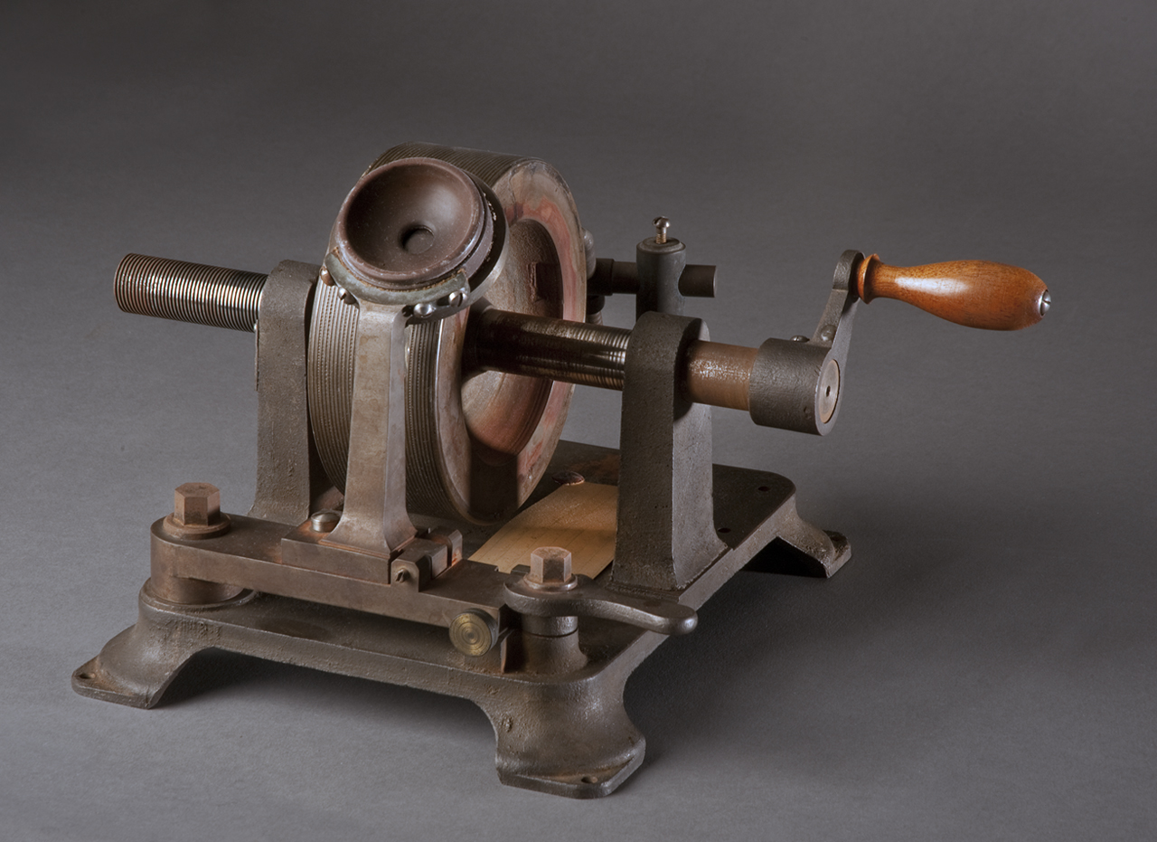 """Graphophone recorded in October of 1881. Content: """"There are more things in heaven and earth, Horatio, than are dreamt of in our philosophy. I am a graphophone and my mother was a phonograph."""" Voice of Alexander Melville Bell, Alexander Graham Bell's father"""""""
