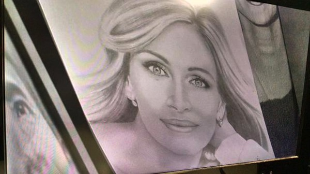 A drawing of Julia Roberts by prison escapee Richard Matt (Image via Twitter)