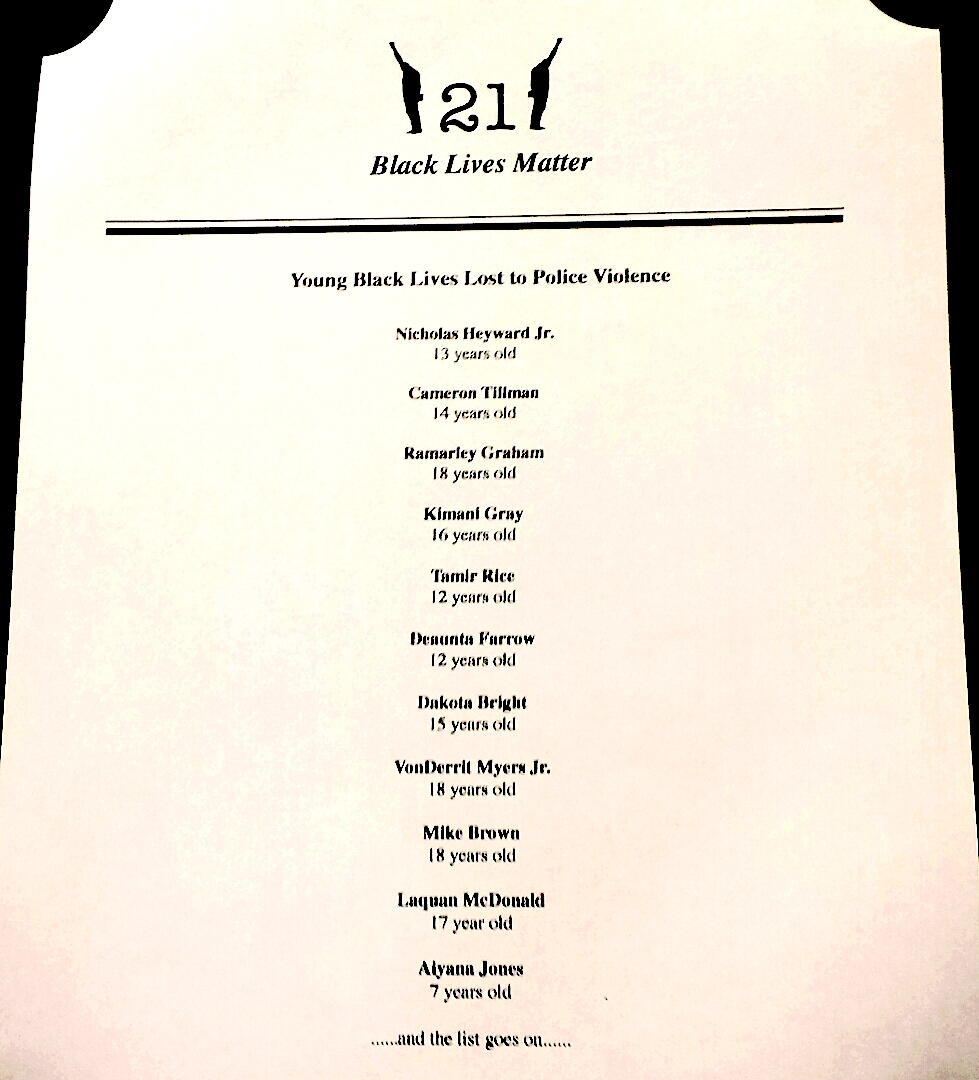 The menu distributed by Never 21 members to patrons of the 21 Club. (photo by Keegan Stephan, used with permission)