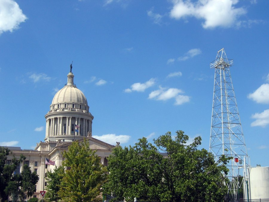 Oklahoma State Capitol (photo by the author for Hyperallergic)