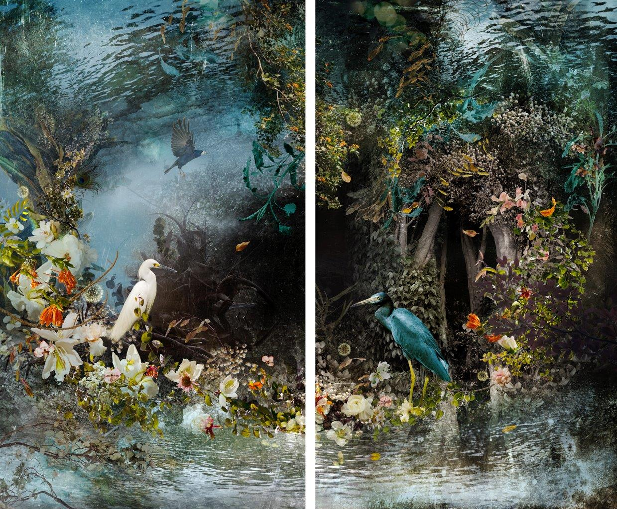 """Ysabel LeMay, """"Reflection"""" (2014), color print diptych, 61 x 72 in. (courtesy of the artist)"""
