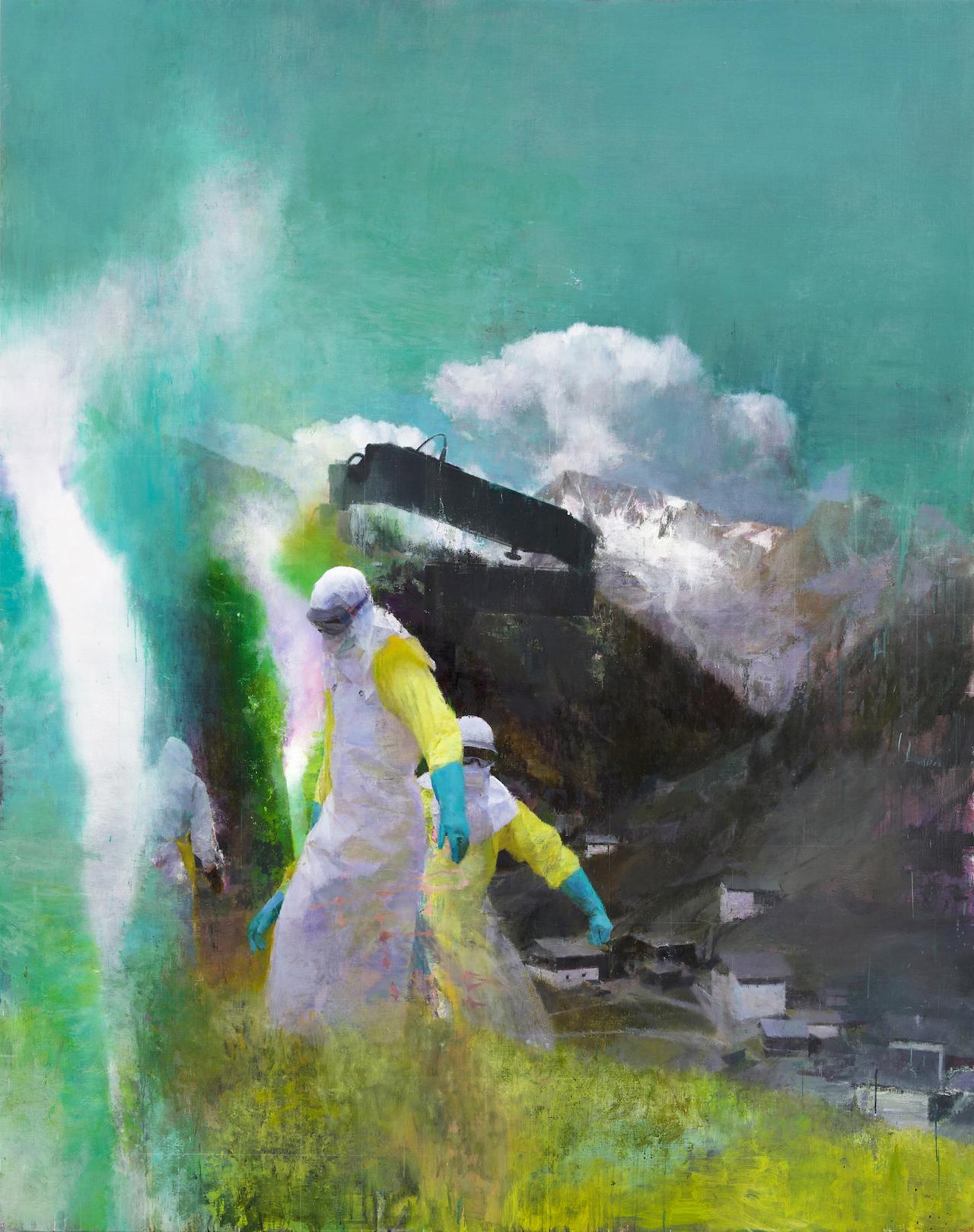 "Justin Mortimer, ""Das Besucher"" (2014), oil on canvas (courtesy Parafin Gallery)"