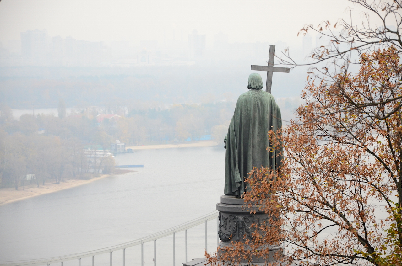 A statue of Vladimir the Great in Kiev (photo by Andrew Butko)
