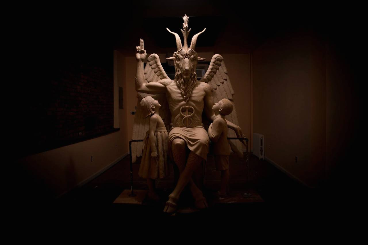 The Satanic monument depicting Baphomet built for the Oklahoma State Capitol (via Satanic Temple)