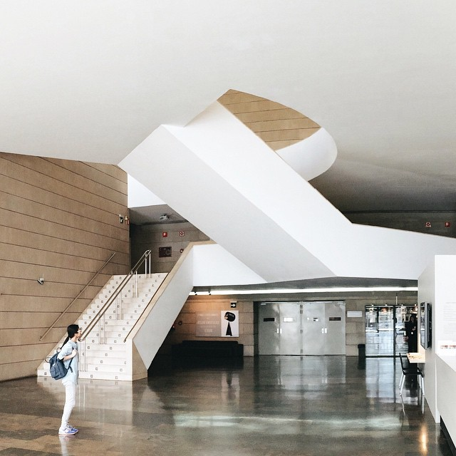 The interior of the Institut Valencià d'Art Modern (photo by lxember/Instagram)