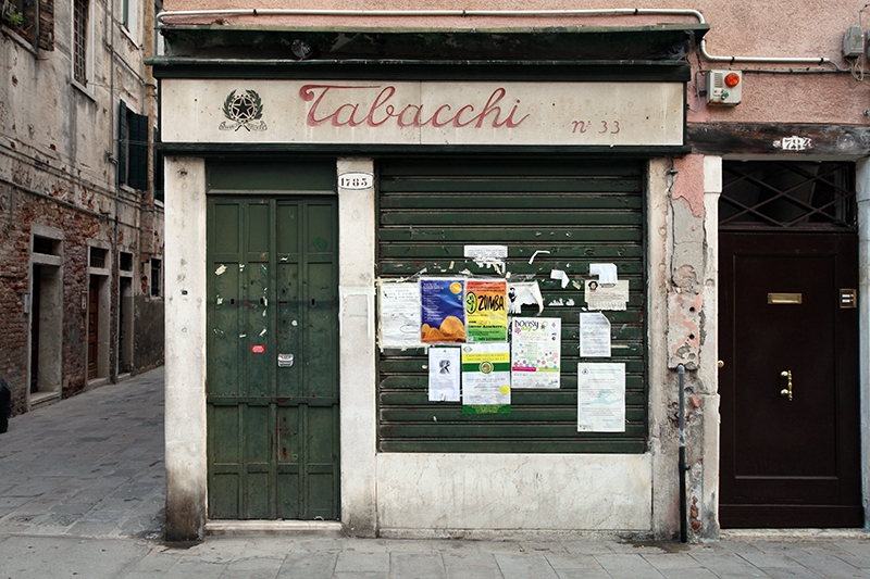 A shop sign in Venice, Italy