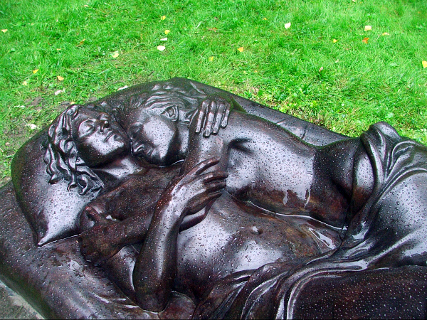 "Patricia Cronin, ""Memorial to a Marriage,"" bronze. (all images courtesy Resnicow Schroeder Associates)"
