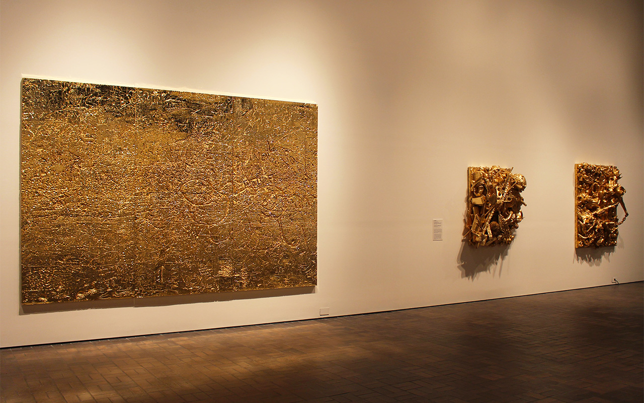 Installation view of 'GOLD' at the Neuberger Museum of Art