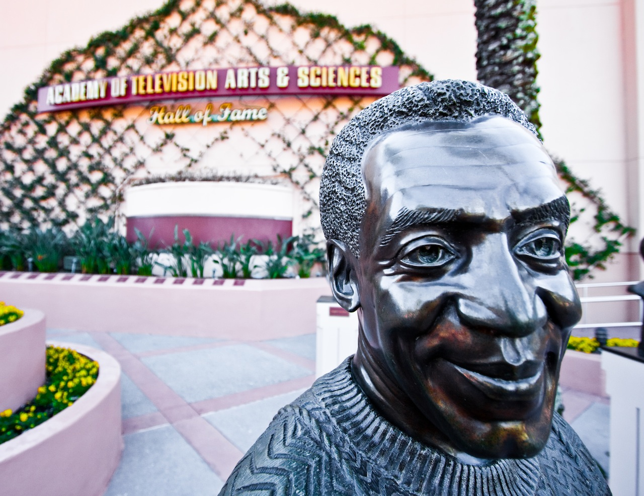The bust of Bill Cosby at Disney's Academy of Television Arts & Sciences Hall of Fame (photo by nickelmedia/Flickr)