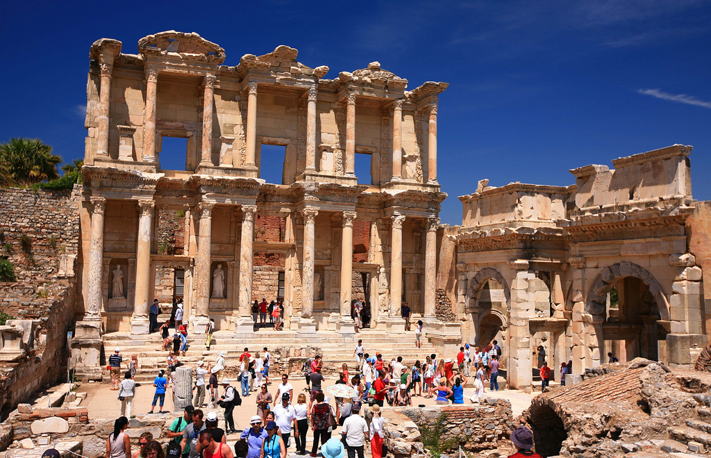 The Library of Celsus in the Ancient City of Ephesus, present-day Turkey, is one of the additions to the UNESCO World Heritage Site list. (image via Laszlio Ilyes's Flickrstream)
