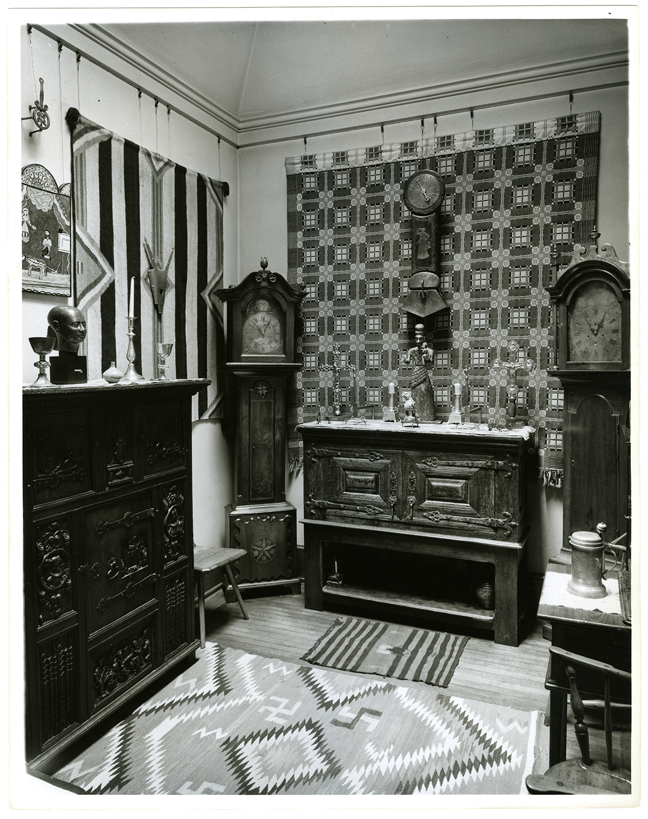 Dutch Room at the Barnes Foundation, northwest corner, c. 1952 (photo by Angelo Pinto, Photograph Collection, Barnes Foundation Archives, Merion, PA)