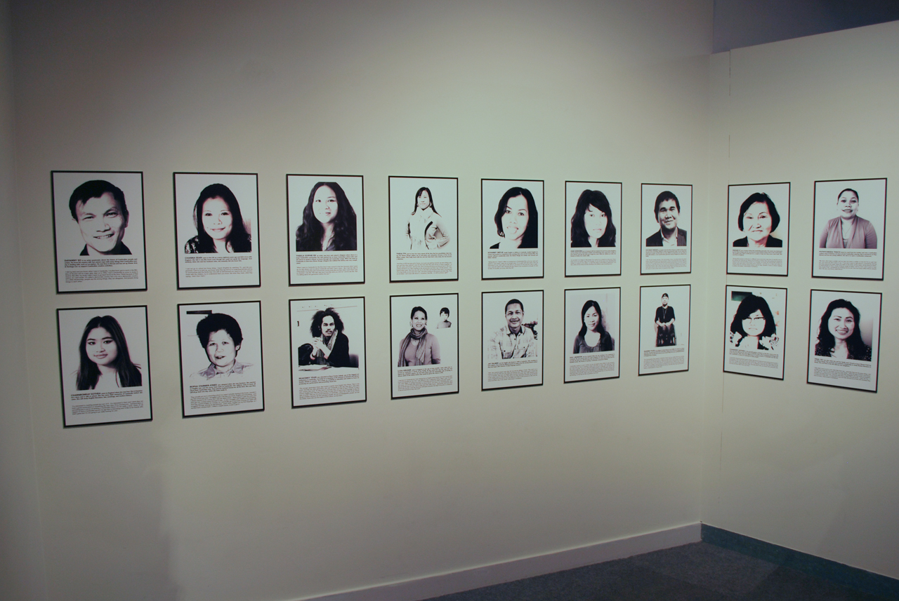 Dayanny So, Cambodian Recollections, installation shot by the author.