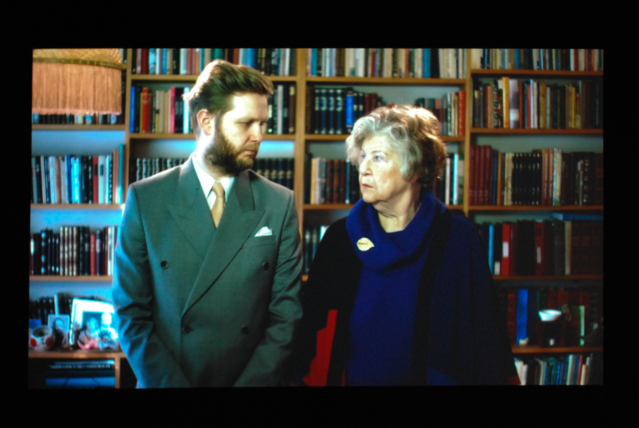 """Ragnar Kjartansson, """"Me and My Mother,"""" 2015. Installation shot by the author."""