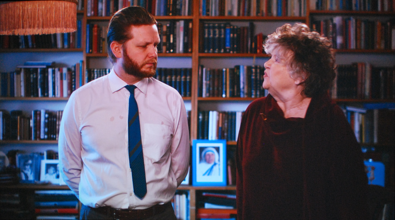 """Ragnar Kjartansson, """"Me and My Mother,"""" 2010. Installation shot by the author."""