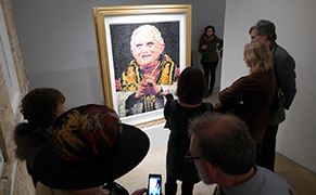 Post image for The Story of a Pope Portrait Made Out of Condoms