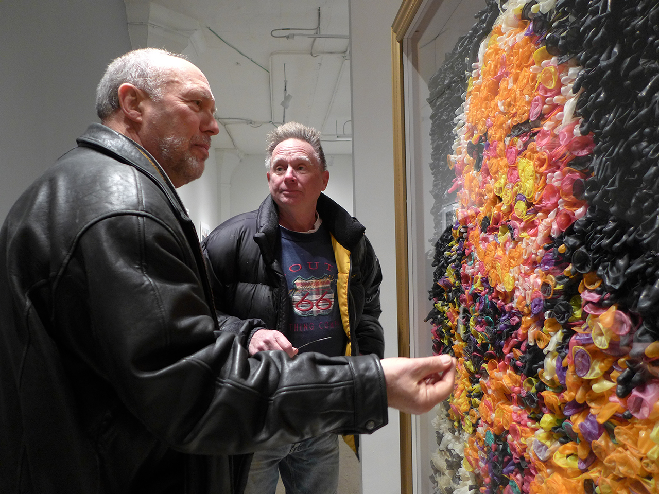 """People discussing """"Eggs Benedict"""" at Portrait Society"""