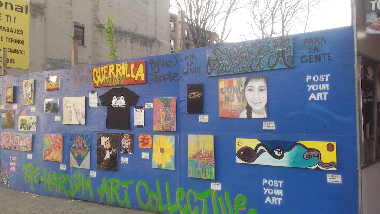 Harlem Art Collective's Guerrilla Gallery (photo by Kristy Mc.Carthy)