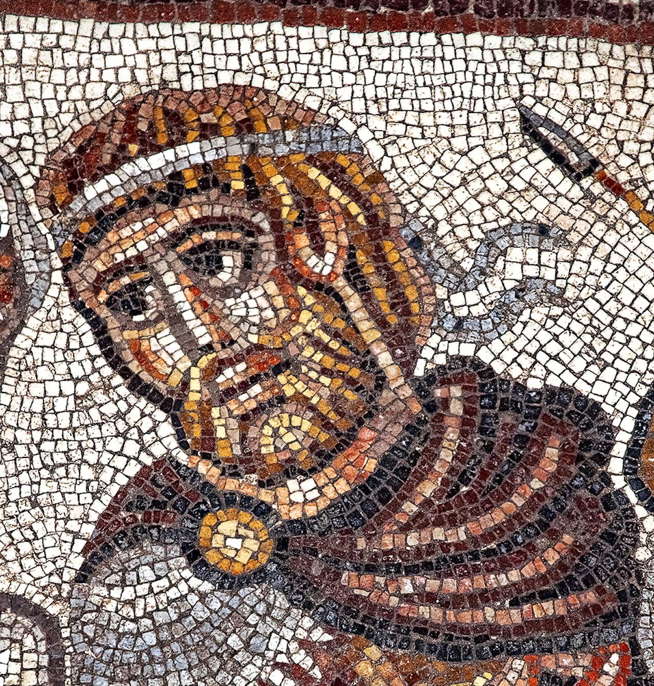 Royal figure in Huqoq mosaic