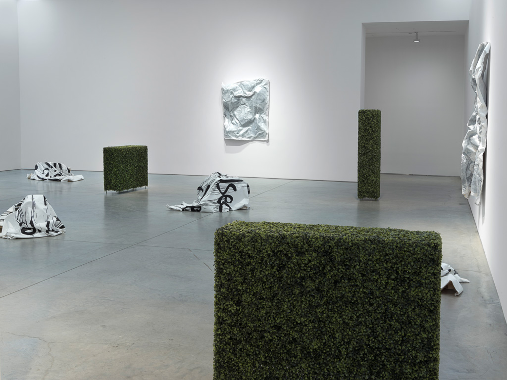 Installation view, Kim Gordon's 'Design Office: The City Is a Garden' at 303 Gallery, 2015 (image courtesy 303 Gallery)