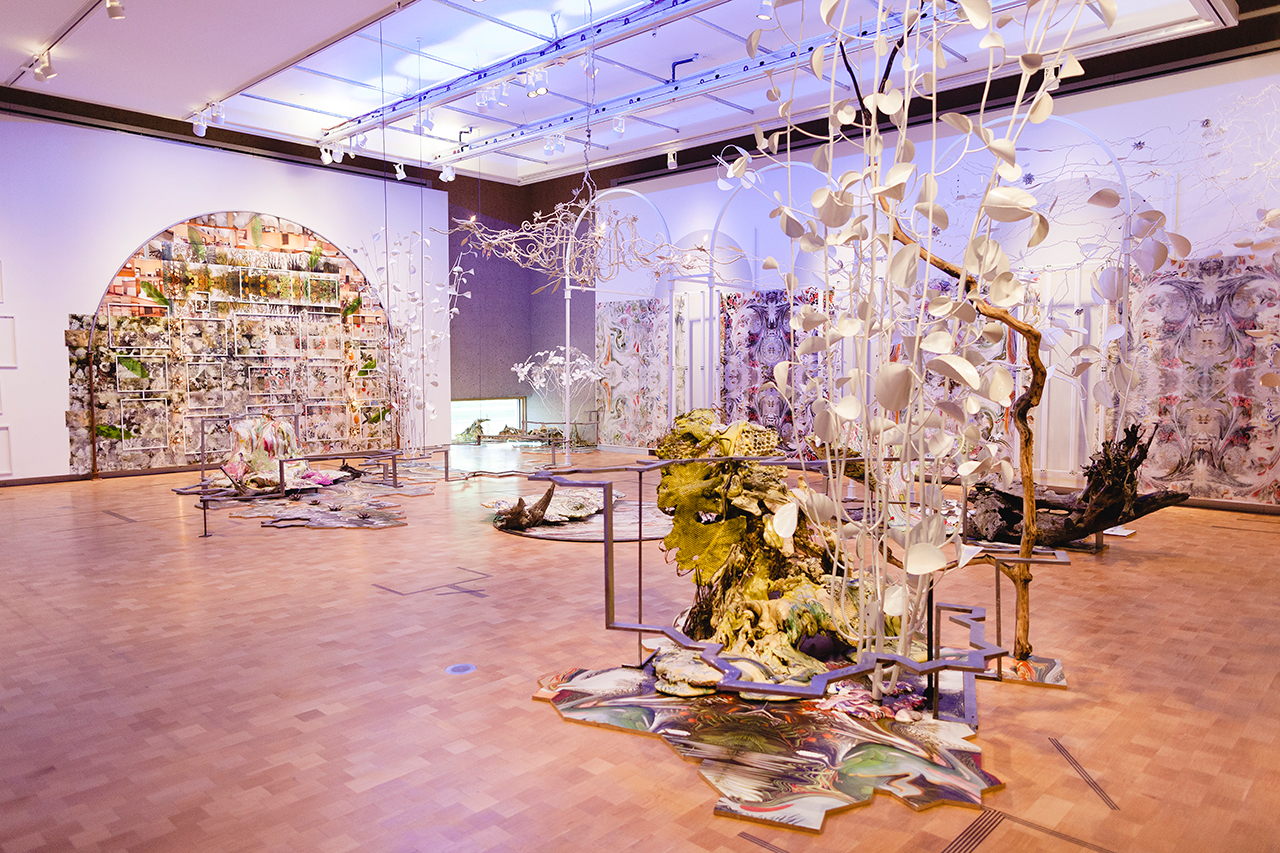 """Judy Pfaff, """"Scene I: The Garden. Enter Mrs. Barnes"""" (2015), commissioned by the Barnes Foundation for 'Mark Dion, Judy Pfaff, Fred Wilson: The Order of Things' exhibition (photo by Keristin Gaber, image © The Barnes Foundation)"""
