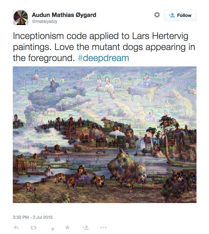"Lars Hertervig's ""Skogtjern (Forest Lake)"" (Image via @matsiyatzy/Twitter)"