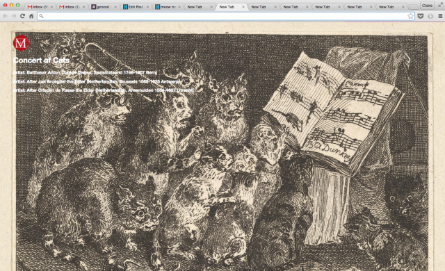 """Balthasar Anton Dunker, """"Concert of Cats, after the painting in the collection of the Duc de Choiseul"""""""