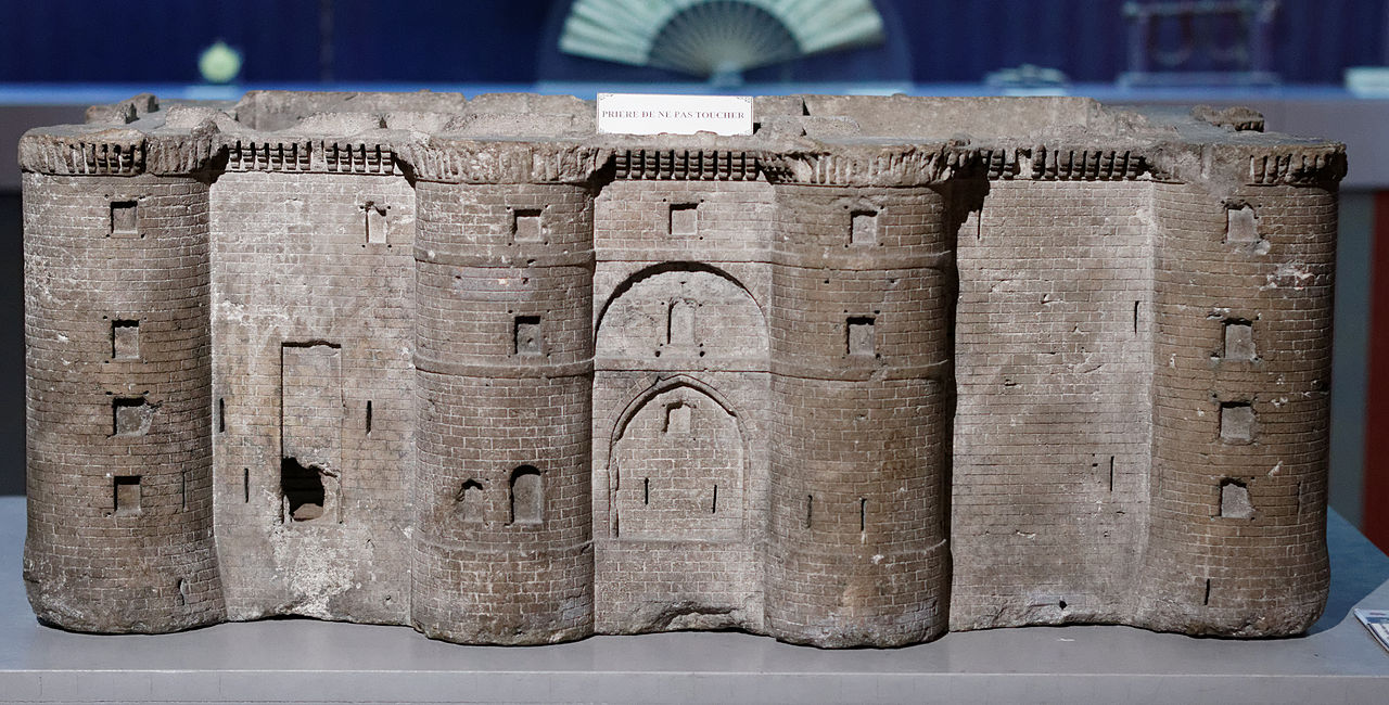 Carved miniature of the Bastille at the Musée Carnavalet in Paris (photo by Pierre-Yves Beaudouin, via Wikimedia)