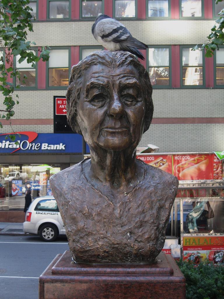 Statue of Golda Meir (photo by Joe Mazzola, via Flickr)
