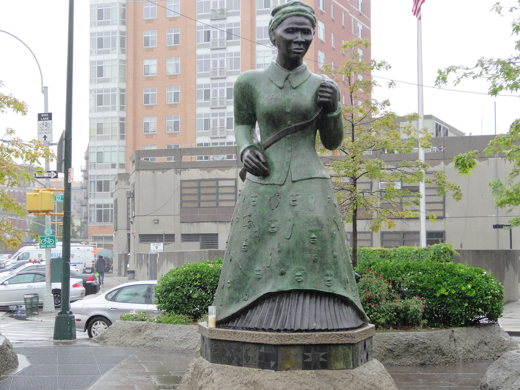 Statue of Harriet Tubman in Harlem (photo by denisbin, via Flickr)
