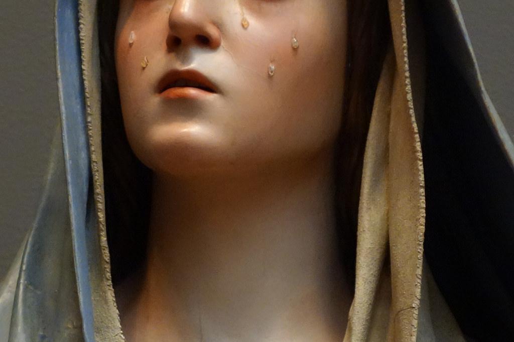 "Pedro de Mena, ""Mater Dolorosa"" (detail) (1674-85), partial-gilt polychrome wood"
