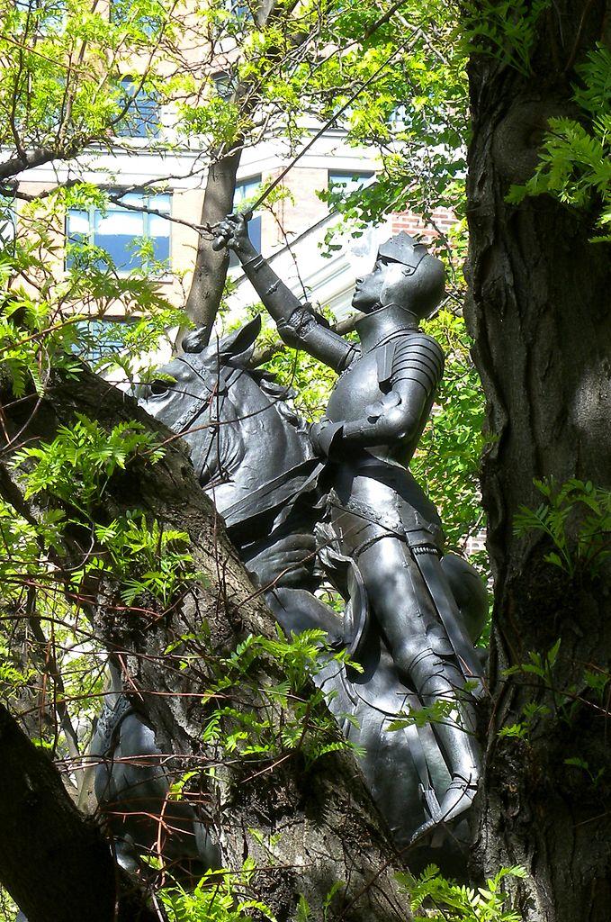 Statue of Joan of Arc in Riverside Park (photo by Jim Henderson, via Wikimedia)