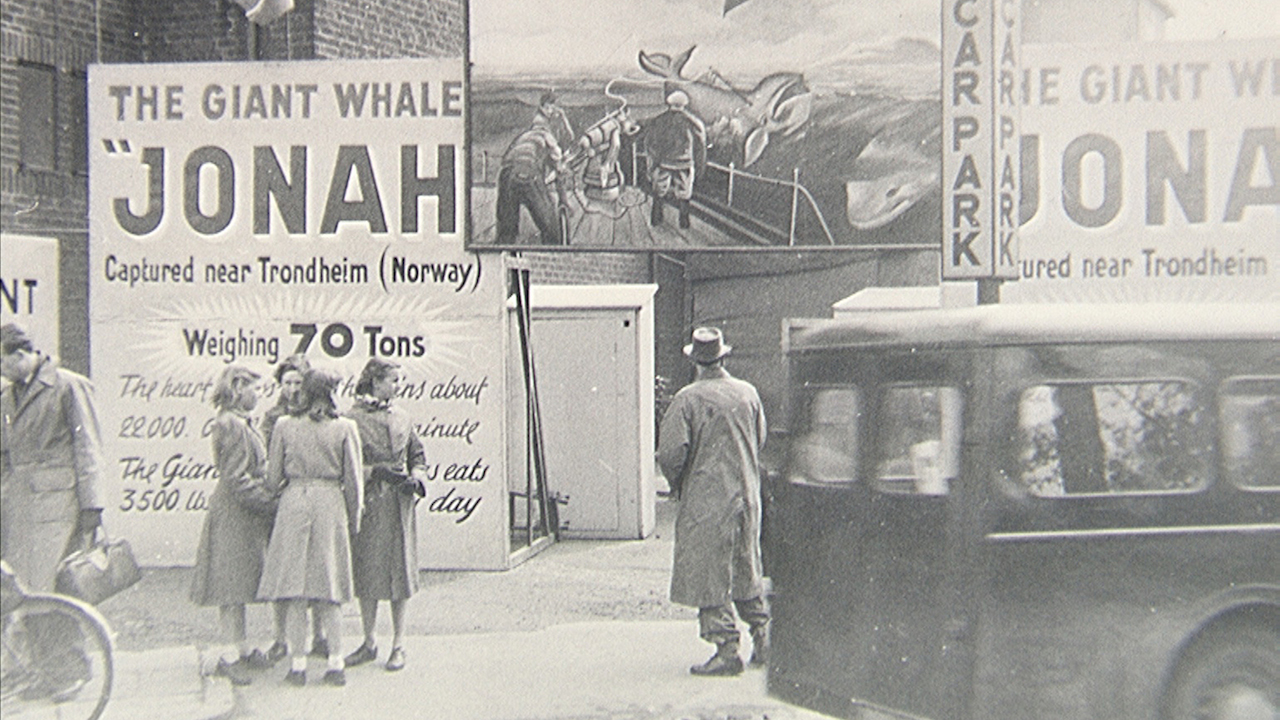 Jonah the Whale Show, Rugby Fair (1954) (photo by Jack Leeson)