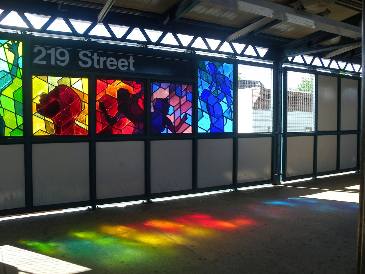 """Joseph D'Alesandro, """"Homage"""" (2006) in the 219th Street station on the 2 and 5 lines (photo by Jim Henderson, via Wikimedia)"""