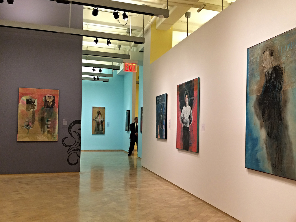 Installation view of 'Rodríguez Calero: Urban Martyrs and Latter-Day Santos' (photo by the author for Hyperallergic)