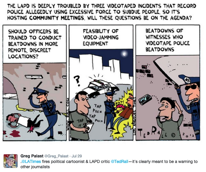 One of Ted Rall's recent cartoons, tweeted by Greg Palast (via twitter)