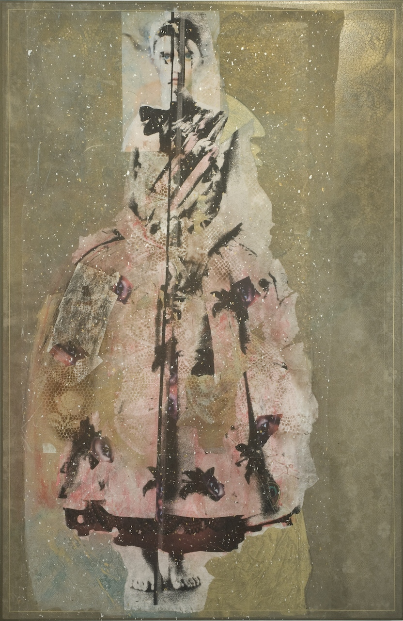 "Rodríguez Calero, ""Seeker"" (2009), acrollage painting, 68 x 44"