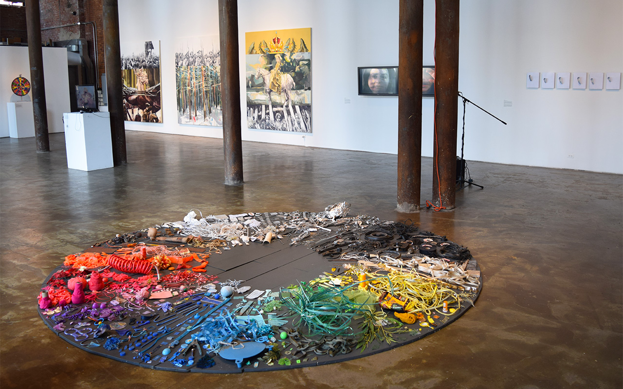 Installation view of 'Story of a Story' at Smack Mellon (all photos by the author)