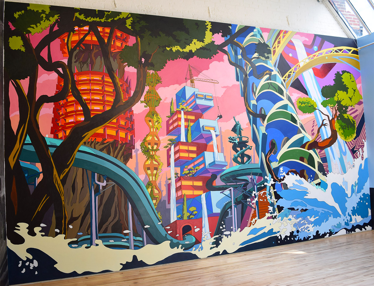 """Chris Doyle, """"Everhigher"""" (2015) at Andrew Edlin Gallery (all photos by the author for Hyperallergic)"""