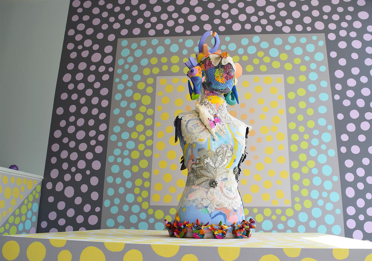 """Saya Woolfalk, """"ChimaTEK: Future Relic"""" (2015) at Andrew Edlin Gallery"""