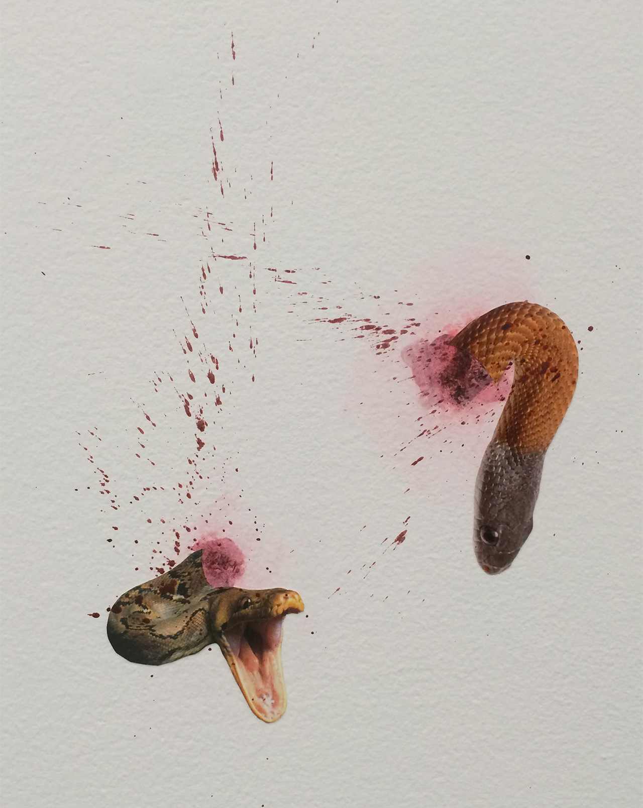 """Detail of Wangechi Mutu, """"A planet full of Snakes"""" (2015) at Gladstone Gallery"""