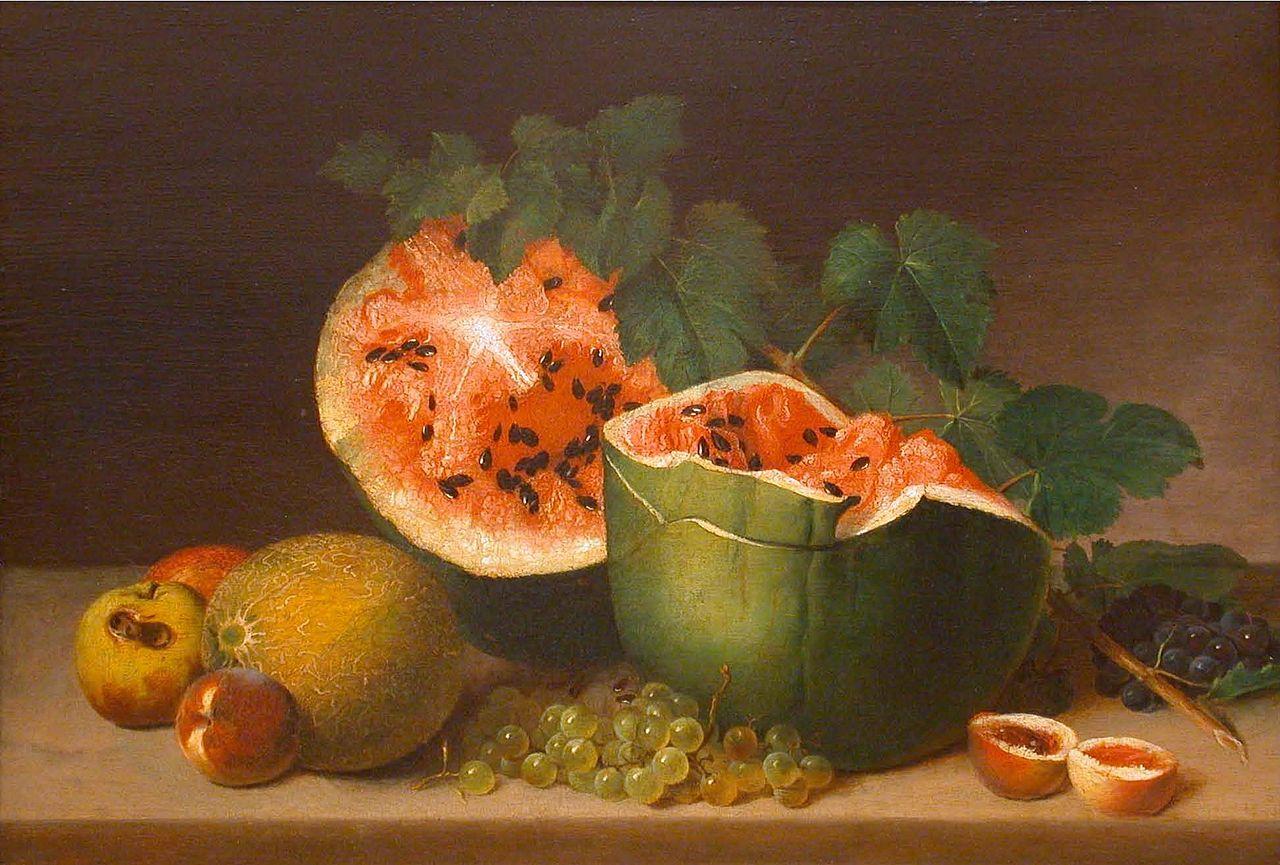 """James Peale, """"Still Life"""" (1824), oil on panel (via Honolulu Museum of Art)"""
