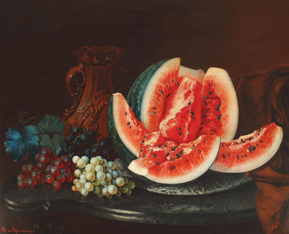 """Mihail Ştefănescu, """"Natură statică cu fructe"""" (1864) (via Wikimedia)"""
