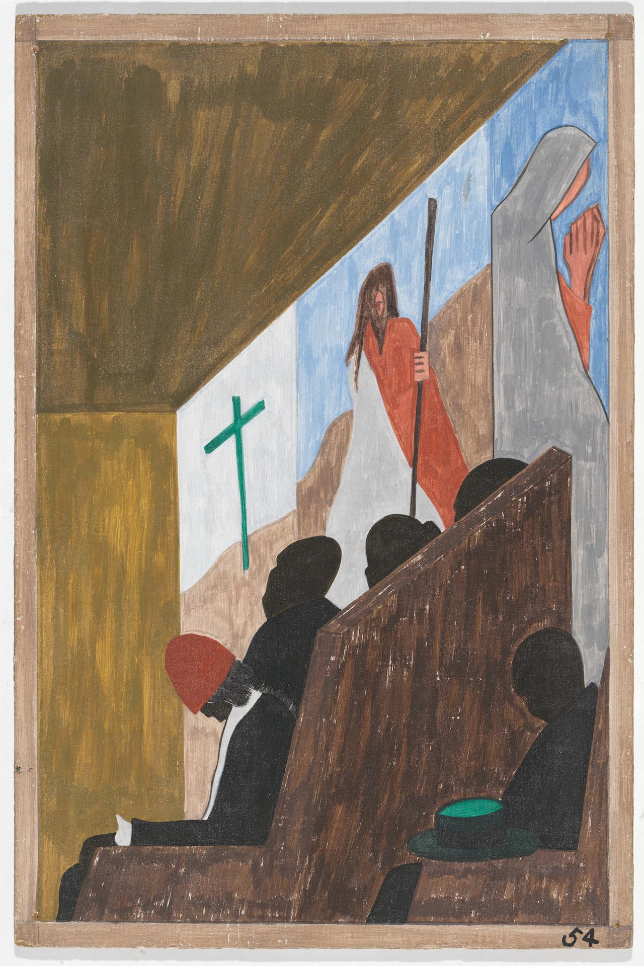 3) JACOB LAWRENCE, panel 54, 18x12