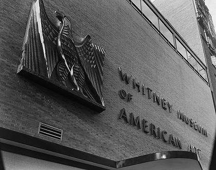 The Whitney's facade at its 54th Street location (photo by Ezra Stoller / Esto) (click to enlarge)