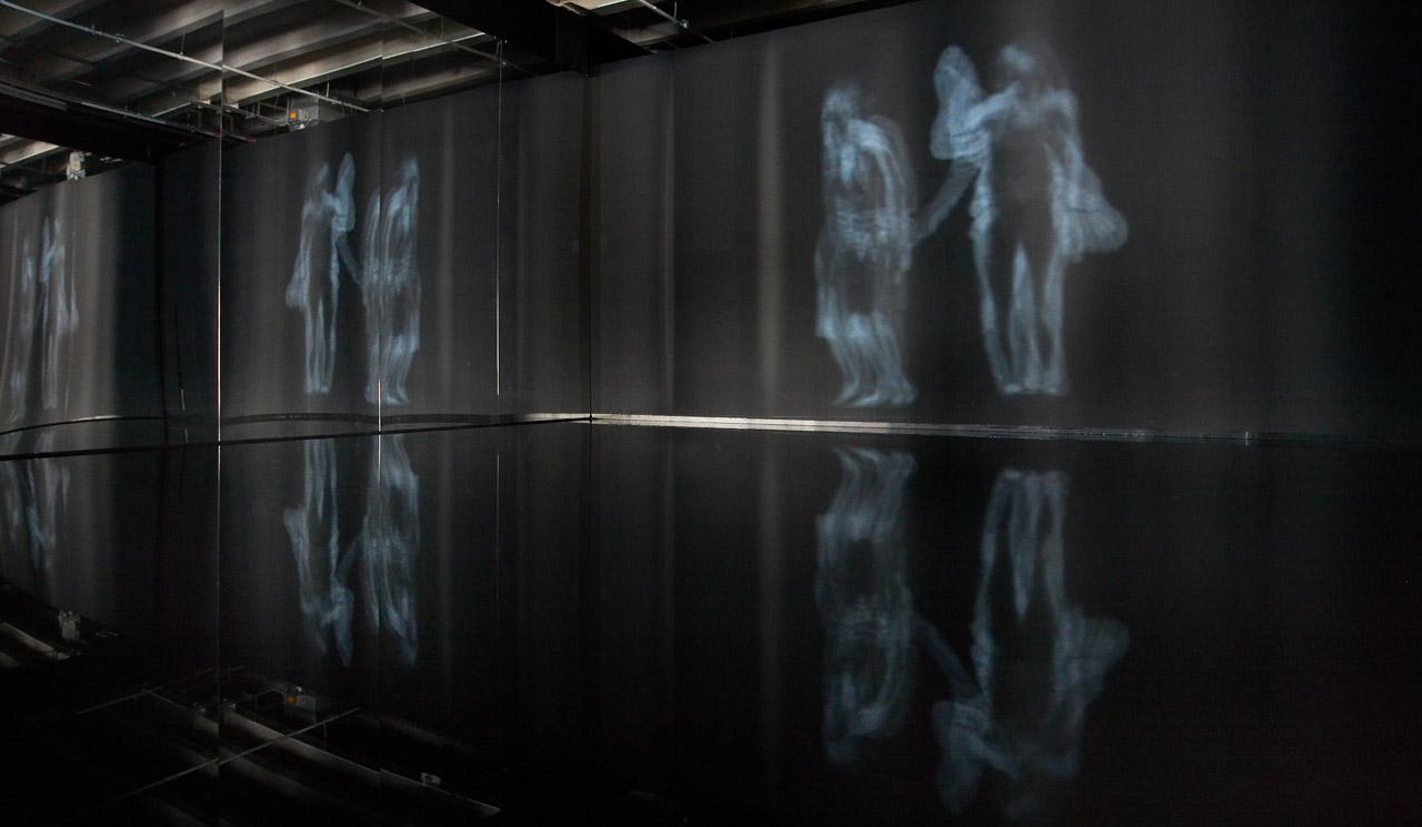 """Céleste Boursier-Mougenot Exposition au Palais de Tokyo """" Aquaalta """" 2015"""
