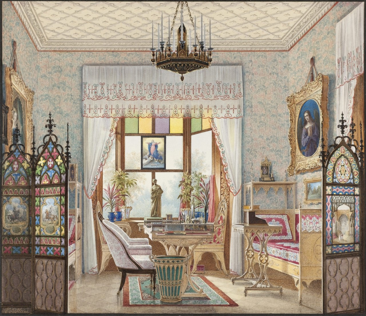 domestic interior paintings show how the 1 lived in the 19th century