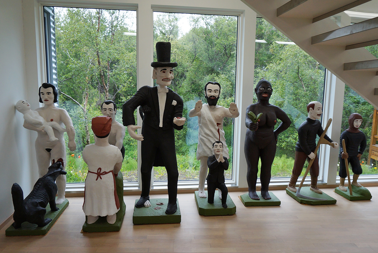 Sculptures by Bjarni Þórarinsson