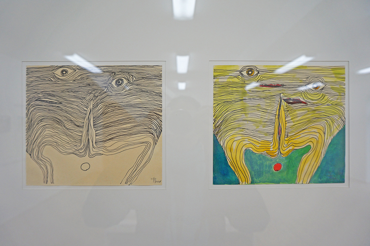 Drawings by Icelandic writer Thor Vilhjálmsson