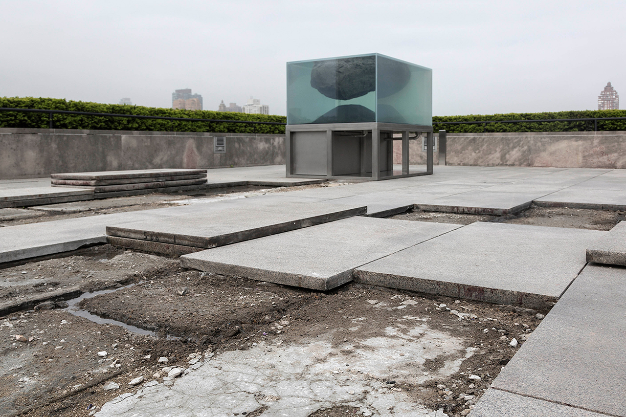 Installation view of 'The Roof Garden Commission: Pierre Huyghe' at the Metropolitan Museum of Art, 2015 (photo by Hyla Skopitz, the Photograph Studio, the Metropolitan Museum of Art, © 2015)